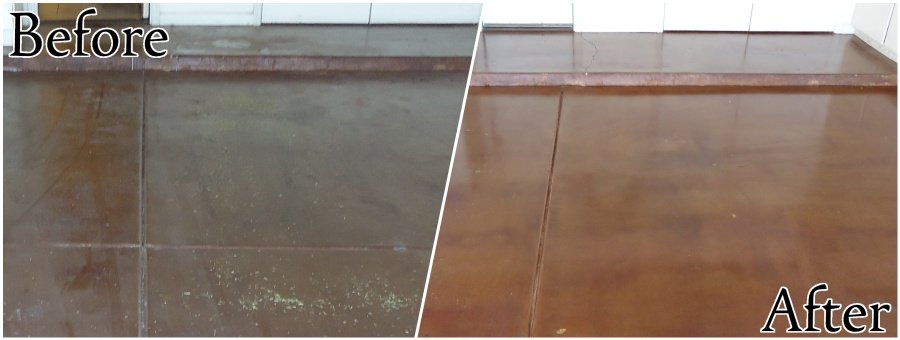 Concrete Restoration - Cleaning and Sealing