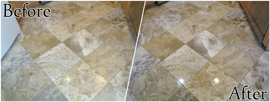 Travertine Restoration - Cleaning